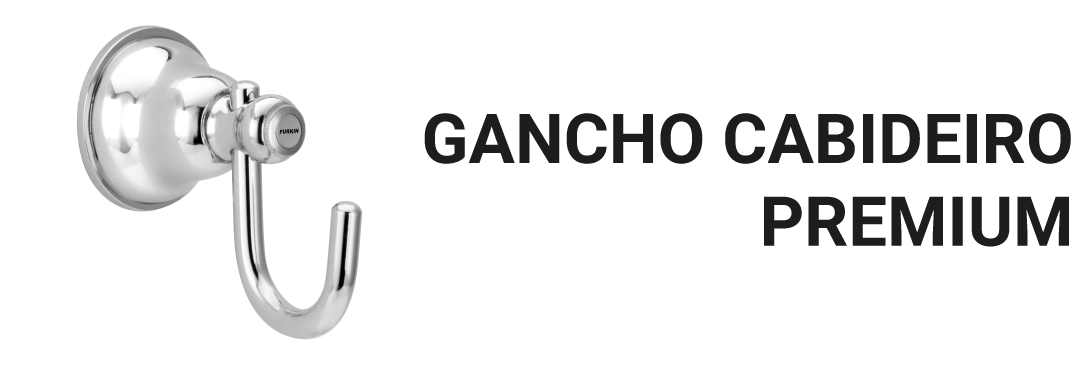 Gancho Cabideiro Para Toalhas Roupas Metal Cromado Banheiro Premium