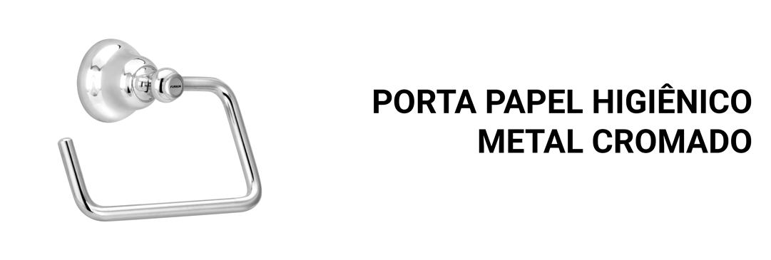 Porta Papel Higiênico Metal Cromado Banheiro Premium